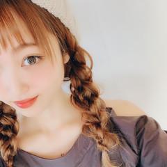 デート ヘアアレンジ セミロング フェミニン ヘアスタイルや髪型の写真・画像