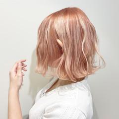 ピンク ベリーピンク ピンクアッシュ ピンクベージュ ヘアスタイルや髪型の写真・画像
