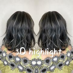 3Dハイライト ハイライト コントラストハイライト ガーリー ヘアスタイルや髪型の写真・画像