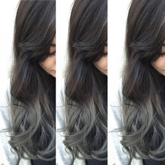 ガーリー グラデーションカラー ハイライト ブラウン ヘアスタイルや髪型の写真・画像