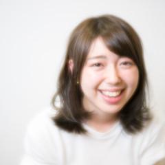暗髪 大人かわいい ピュア ミディアム ヘアスタイルや髪型の写真・画像