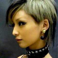 ストリート 外国人風 グラデーションカラー 黒髪 ヘアスタイルや髪型の写真・画像