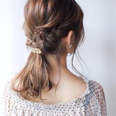 女子力 セミロング 簡単ヘアアレンジ コンサバ ヘアスタイルや髪型の写真・画像