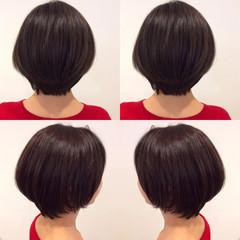 ナチュラル 艶髪 アッシュ ショート ヘアスタイルや髪型の写真・画像