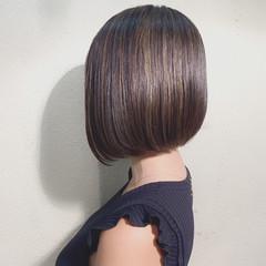 前下がりボブ ハイライト モテボブ ボブ ヘアスタイルや髪型の写真・画像