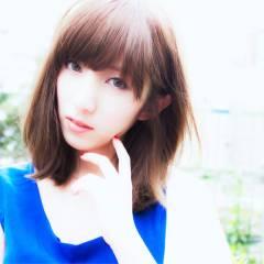 ミディアム 秋 ヘアスタイルや髪型の写真・画像
