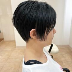 ナチュラル ショートヘア マッシュ ショートボブ ヘアスタイルや髪型の写真・画像