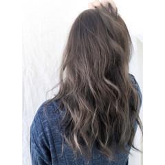 外国人風 アッシュ ストリート グラデーションカラー ヘアスタイルや髪型の写真・画像