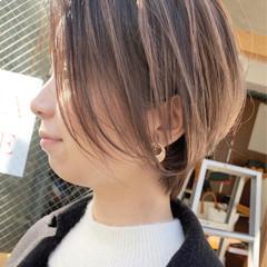 インナーカラー ショートボブ ショートヘア ベリーショート ヘアスタイルや髪型の写真・画像