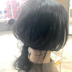 ナチュラル 黒髪 ヘアアレンジ かわいい ヘアスタイルや髪型の写真・画像