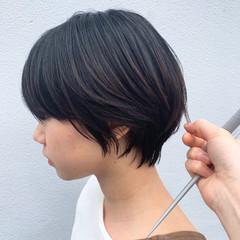 ナチュラル 簡単スタイリング 大人ショート ショート ヘアスタイルや髪型の写真・画像