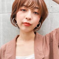ショートボブ ガーリー ショートヘア ショートカット ヘアスタイルや髪型の写真・画像