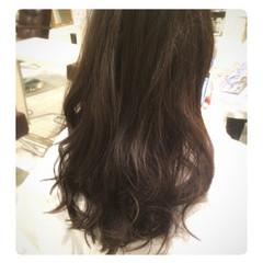 黒髪 フェミニン グラデーションカラー セミロング ヘアスタイルや髪型の写真・画像