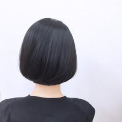 モード ストレート パーマ 黒髪 ヘアスタイルや髪型の写真・画像