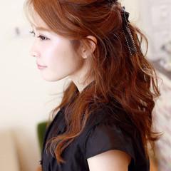 謝恩会 ゆるふわ 簡単ヘアアレンジ ヘアアレンジ ヘアスタイルや髪型の写真・画像