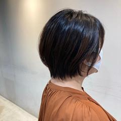ゆるふわセット ミディアム 似合わせカット ショートバング ヘアスタイルや髪型の写真・画像