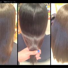 ロング 艶髪 パーマ 縮毛矯正 ヘアスタイルや髪型の写真・画像