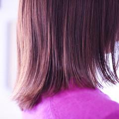 ピンクブラウン ピンクアッシュ ピンク セミロング ヘアスタイルや髪型の写真・画像