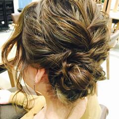 ミディアム 外国人風 レイヤーカット ヘアアレンジ ヘアスタイルや髪型の写真・画像