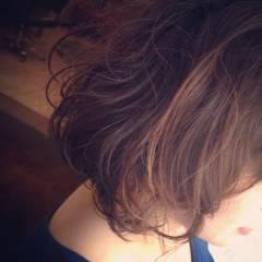 グラデーションカラー ゆるふわ コンサバ ボブ ヘアスタイルや髪型の写真・画像