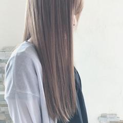 バレイヤージュ ロング ハイライト ナチュラル ヘアスタイルや髪型の写真・画像