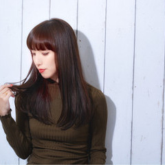 黒髪 ストレート ロング ナチュラル ヘアスタイルや髪型の写真・画像