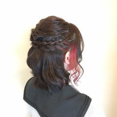 夏 ミディアム 春 インナーカラー ヘアスタイルや髪型の写真・画像