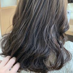 透明感カラー 外国人風カラー ヘアカラー セミロング ヘアスタイルや髪型の写真・画像