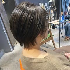 ミント 暗髪女子 暗髪 ショート ヘアスタイルや髪型の写真・画像