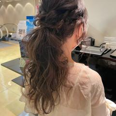 結婚式ヘアアレンジ アンニュイほつれヘア ロング ナチュラル ヘアスタイルや髪型の写真・画像