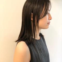 切りっぱなしボブ 髪質改善トリートメント ミディアム 髪質改善カラー ヘアスタイルや髪型の写真・画像
