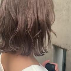 ボブ ミルクティー ミルクティーグレージュ ヘアアレンジ ヘアスタイルや髪型の写真・画像