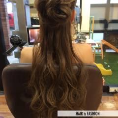 花 ヘアアレンジ モテ髪 ロング ヘアスタイルや髪型の写真・画像