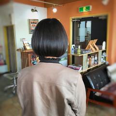 艶髪 美髪 ミニボブ ナチュラル ヘアスタイルや髪型の写真・画像