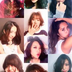 コンサバ グラデーションカラー 黒髪 外国人風 ヘアスタイルや髪型の写真・画像