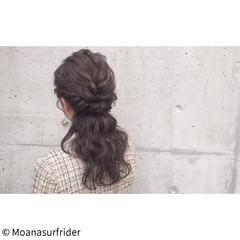 波ウェーブ デート 女子会 ヘアアレンジ ヘアスタイルや髪型の写真・画像