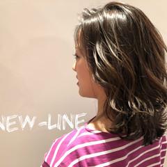 ミディアム ハイライト アンニュイほつれヘア 外国人風カラー ヘアスタイルや髪型の写真・画像