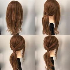 簡単 ロング ポニーテール ヘアアレンジ ヘアスタイルや髪型の写真・画像