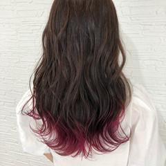 セミロング ピンクバイオレット ピンクベージュ ピンクラベンダー ヘアスタイルや髪型の写真・画像