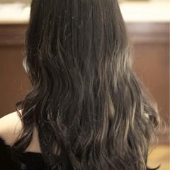 バレイヤージュ 外国人風 セミロング ハイライト ヘアスタイルや髪型の写真・画像