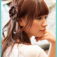 簡単ヘアアレンジ 愛され モテ髪 セミロング ヘアスタイルや髪型の写真・画像