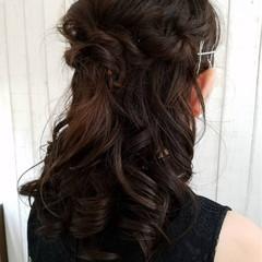 ヘアアレンジ 結婚式 ロング ハーフアップ ヘアスタイルや髪型の写真・画像