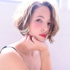 外国人風 ショート おフェロ フェミニン ヘアスタイルや髪型の写真・画像