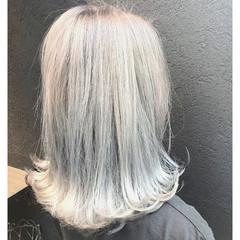 ボブ ナチュラル 外国人風 ハイトーン ヘアスタイルや髪型の写真・画像
