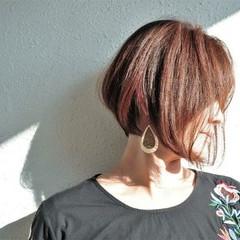 ナチュラル ボブ 大人女子 前下がり ヘアスタイルや髪型の写真・画像
