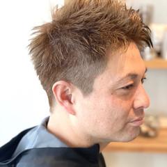 ショート メンズヘア メンズ ナチュラル ヘアスタイルや髪型の写真・画像