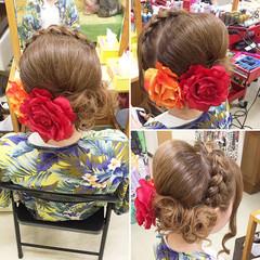 お祭り 大人かわいい ロング 花火大会 ヘアスタイルや髪型の写真・画像