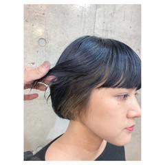 モード ブリーチ 透明感 インナーカラー ヘアスタイルや髪型の写真・画像