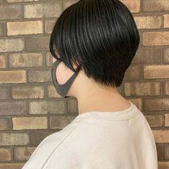 スロウ ショートヘア ナチュラル ハンサムショート ヘアスタイルや髪型の写真・画像