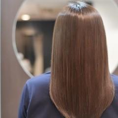 ナチュラル ロング ヘアケア 縮毛矯正 ヘアスタイルや髪型の写真・画像